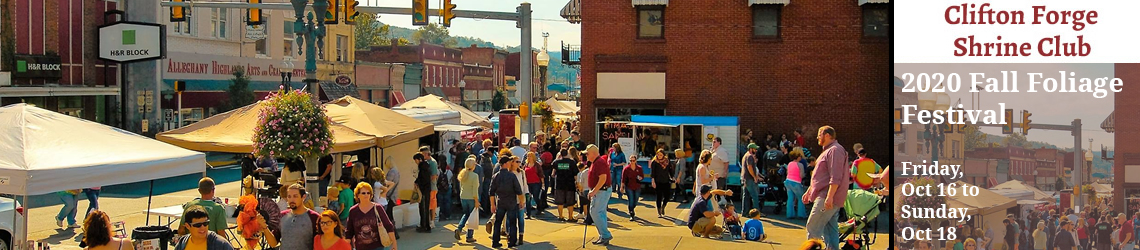 Clifton Forge Shriners Fall Festival 2020 - 3rd weekend in October